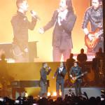 Camila y Marco Antonio Solís en el gran concierto.