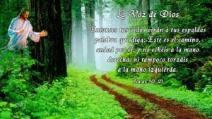 Isaías 30 21 La voz de Dios