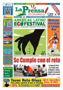 Su dibujo, ilustró nuestra portada durante la edición especial sobre el IV Festival Ecológico Latino de Denver.