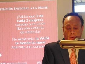Cónsul encargado, Jeremías Guzmán- Barrera, durante su participación.