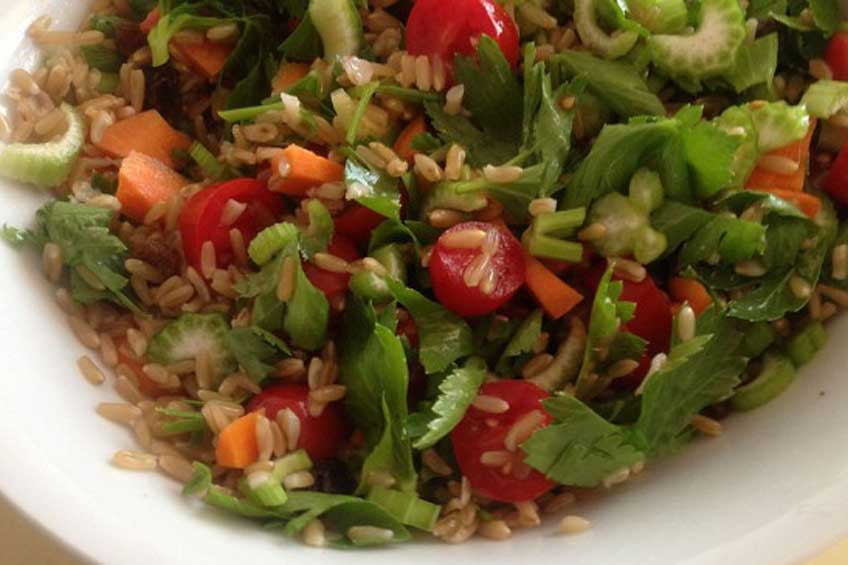 rice vegeterian salade