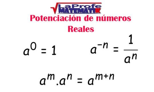 Potenciación de números reales