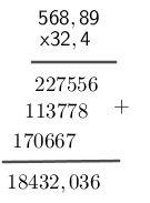 Multiplicación de número decimales
