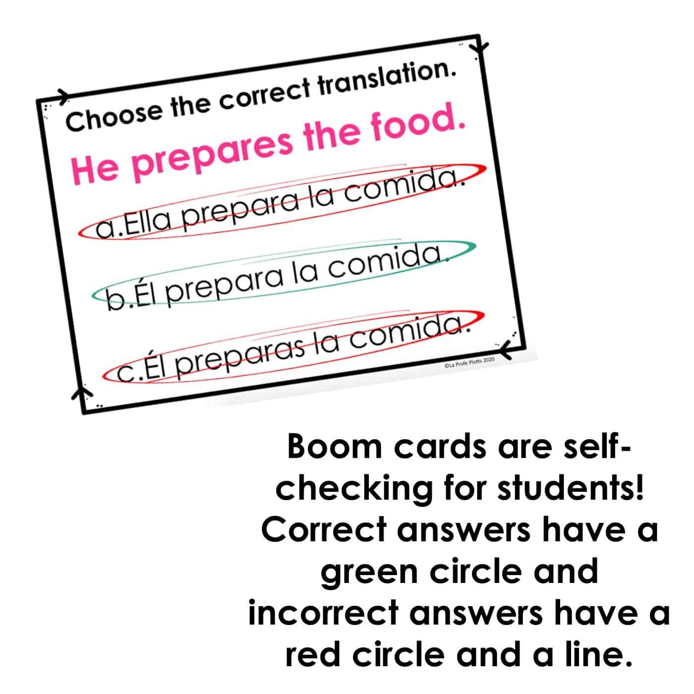 Present Tense Spanish Boom Cards