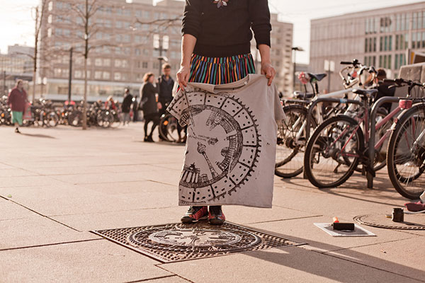 Tshirt empreinte d'une ville - Raubdruckerin -Berlin