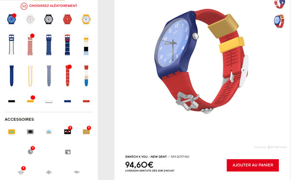 Swatch - montre personnalisable