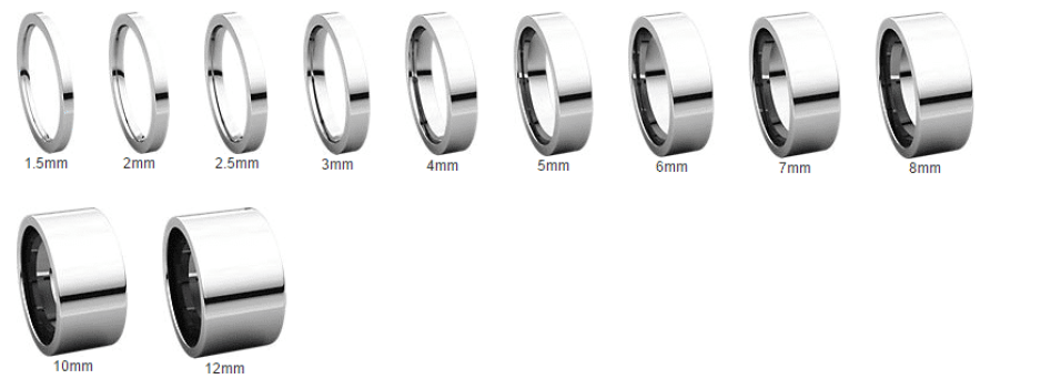 Flat Rings Sizes