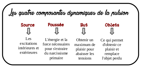 Les quatre composantes dynamiques de la pulsion