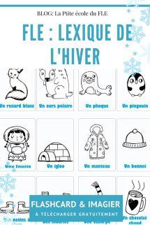 FLE lexique de l'hiver Imagier FLashcards