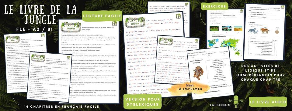 Jungle Book Easy french story Livre en français facile