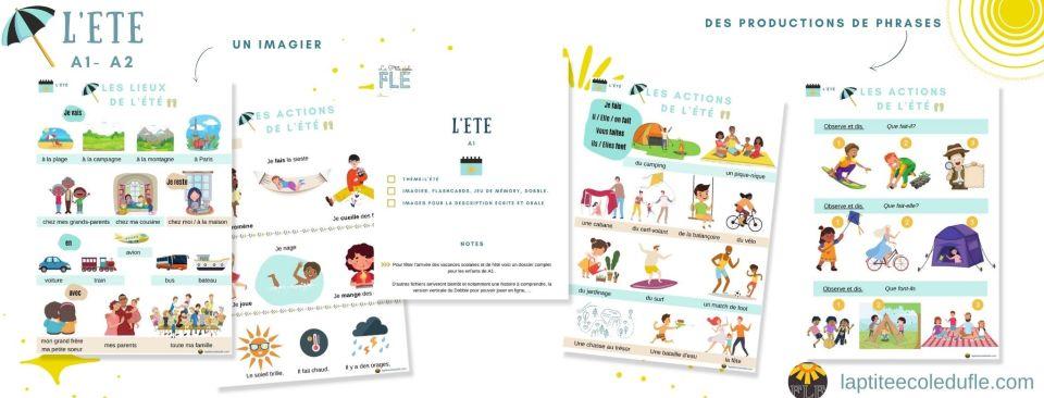 Lexique FLE activités vacances