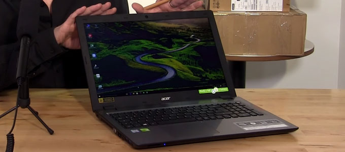 Acer Aspire V3-575T, tampilan antarmuka (youtube: NotebookcheckReviews)