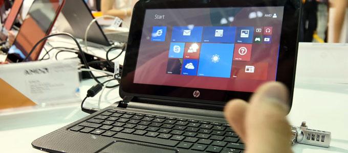 Desain antarmuka HP Pavilion TouchSmart 10 (youtube: TechVideo)