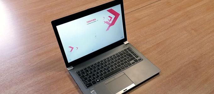 Tampilan antarmuka Toshiba Tecra Z40-A (youtube: Dan Warman)