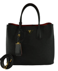 Prada Saffiano Double Bag Tote Review