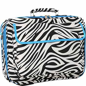 World Traveler Zebra Print Laptop Case Bag