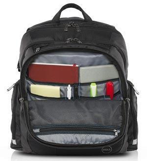 Internal design of Dell Tek 17 inch Laptop Backpack