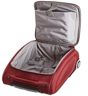 Internal design of Travelon Wheeled Underseat Laptop Bag