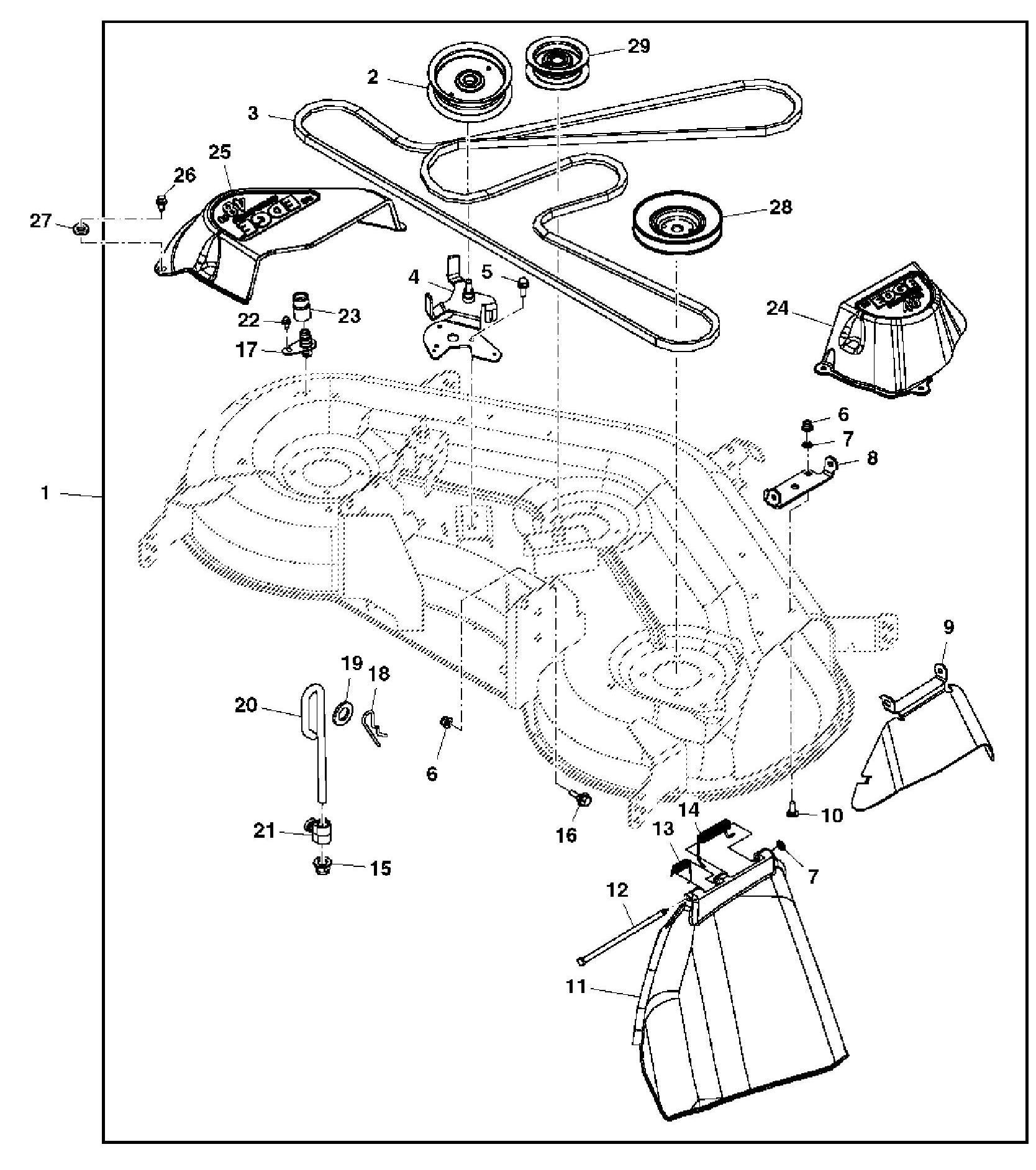 John Deere Mower Deck Parts