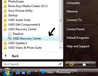 Format Ulang atau Recovery Sony VAIO (2/6)