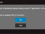dell osd warning PC settings