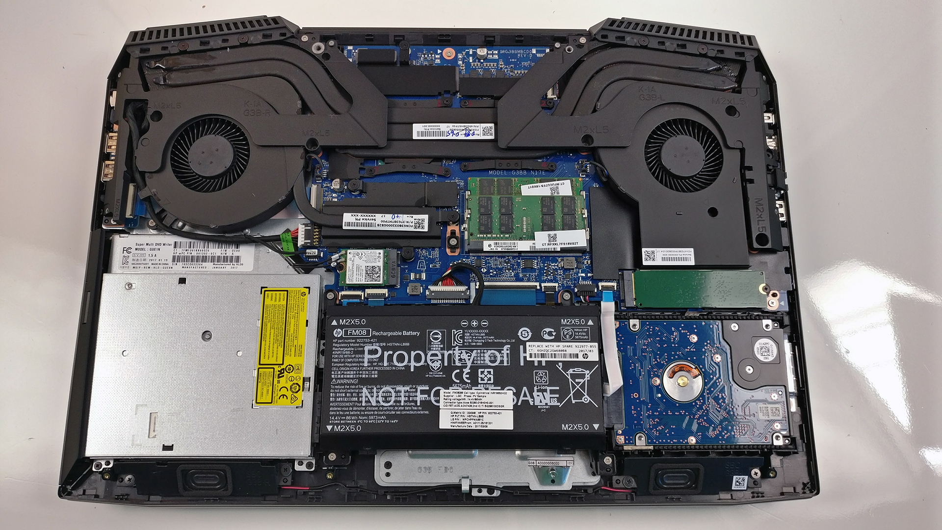 Inside Hp Omen 17 2017 Disassembly Internal Photos