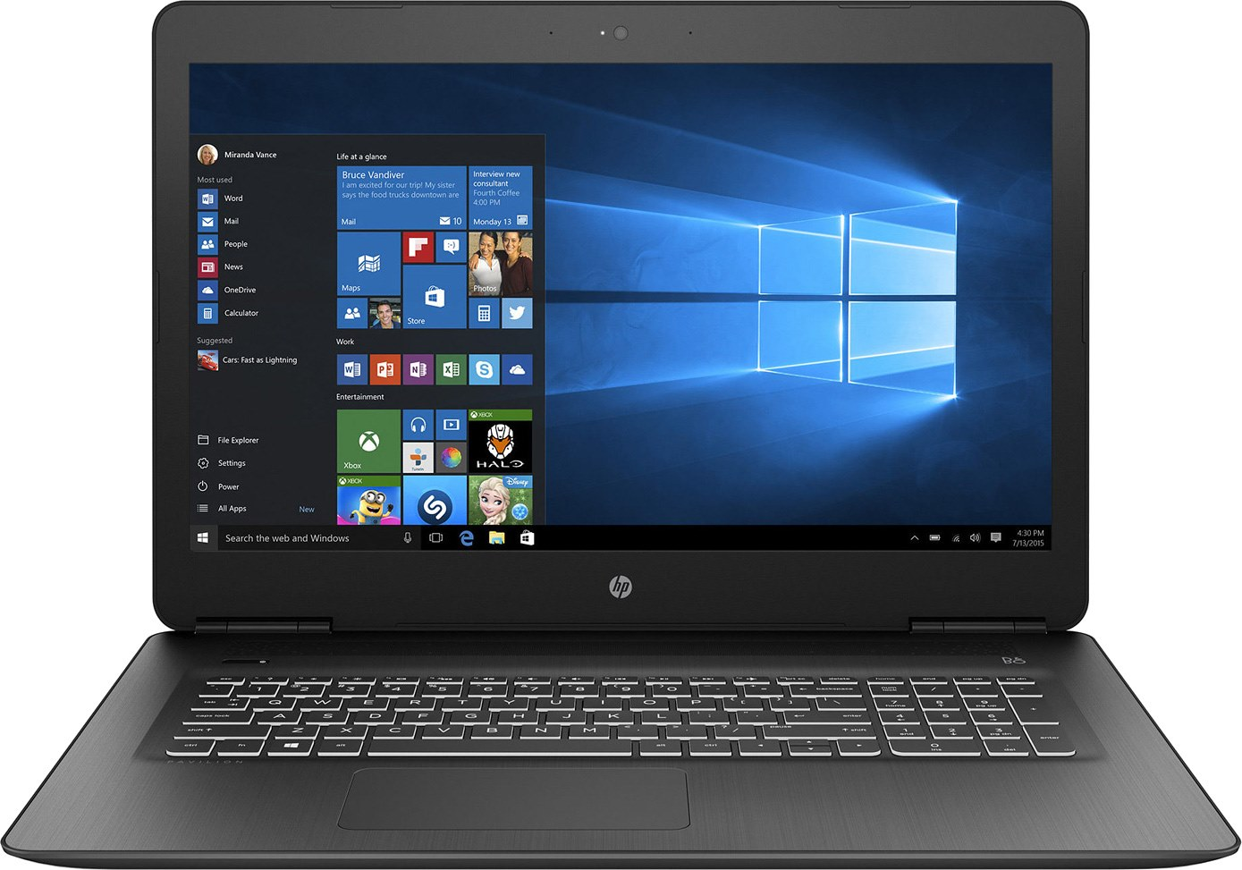 2c1dcbd43c4e81 HP Pavilion 17 (17-ab300)  Specs and Benchmarks  - LaptopMedia.com