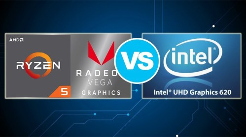 AMD Radeon RX Vega 8 vs Intel UHD Graphics 620 – the Vega 8 is