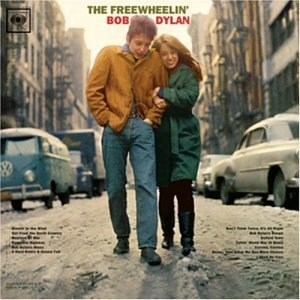"""The Freewheelin' Bob Dylan"" (1963) on the laptop sessions acoustic cover songs music video blog"