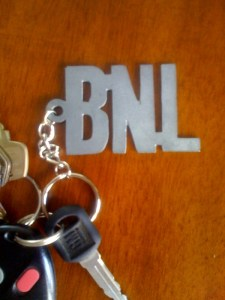 BnL keychain from their merch table