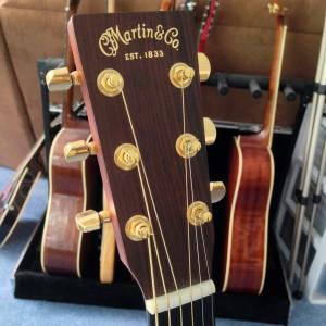 Head of Martin MMV Acoustic Guitar