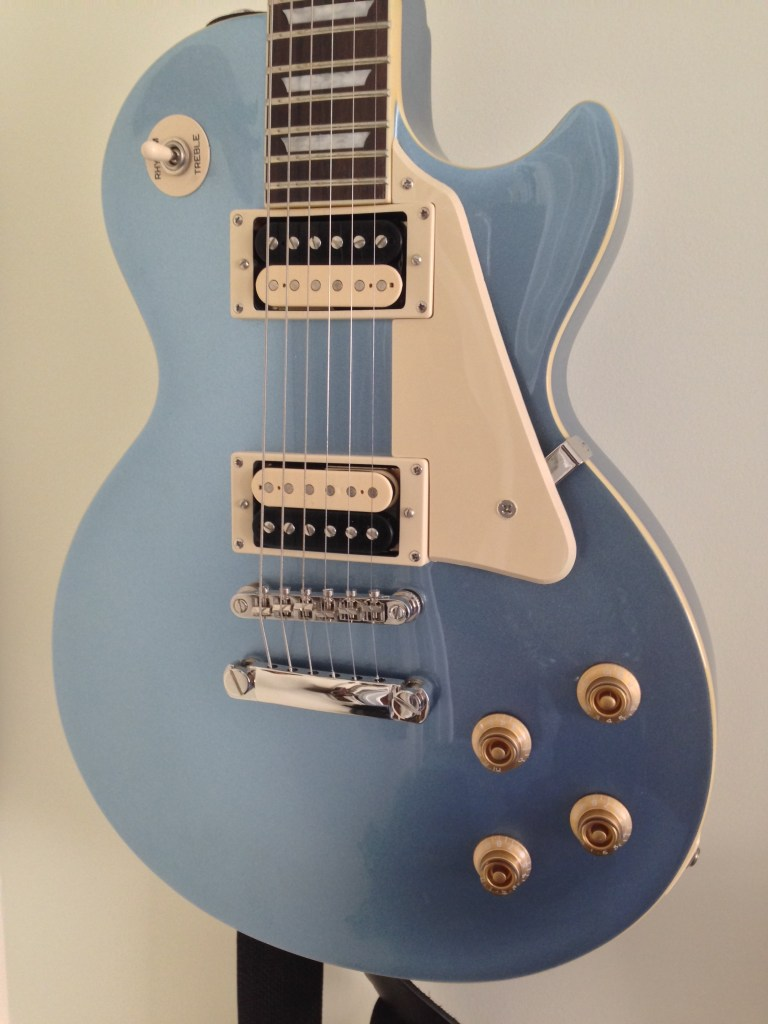 Epiphone Les Paul Standard Pelham Blue with Sheptone PAF Pickups
