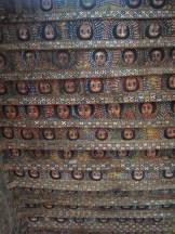 Querubinos alados decoran el techo de la Iglesia de Debre Berhan Selassie