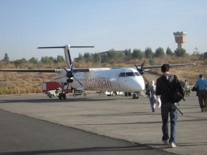 El avión que me llevaría de Gondar a Lalibela