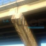 Il viadotto a Tortona perde i pezzi