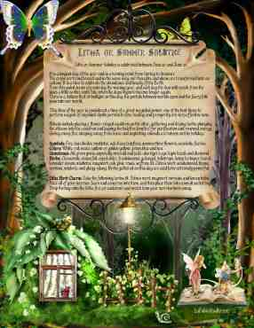 Litha - Pagan Holiday information page