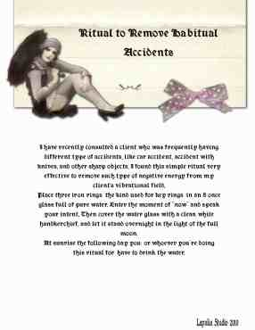 Magickal Ritual to remove accidents