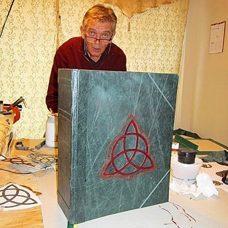 Charmed Book of Shadows being made.