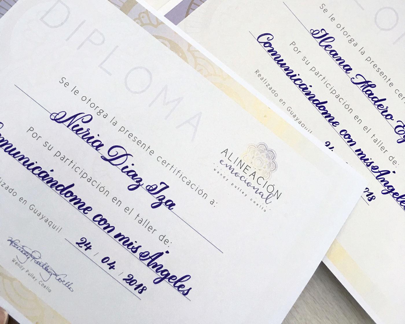 caligrafia en diplomas