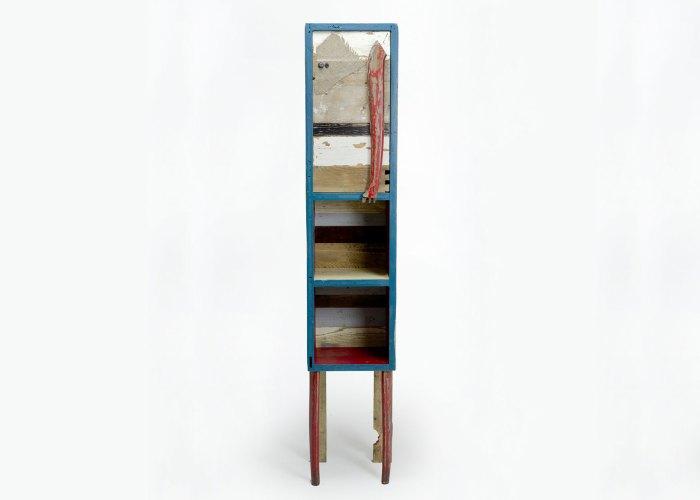 mobile altro legno di recupero e laccatura colorata
