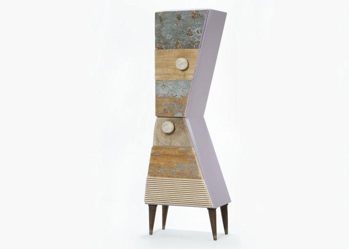mobile con sportelli legno riciclato