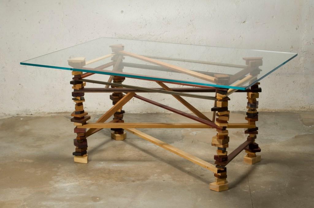 tavoli su misura in legno massello e vetro