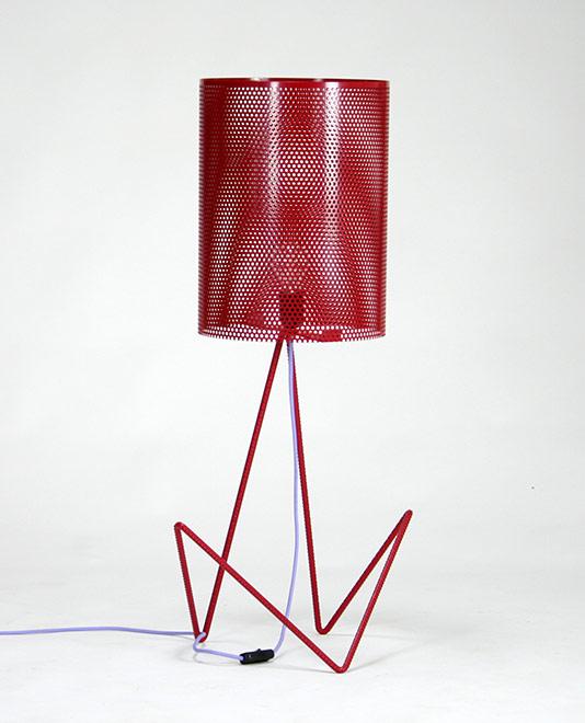 Lampade design in ferro e cavi colorati