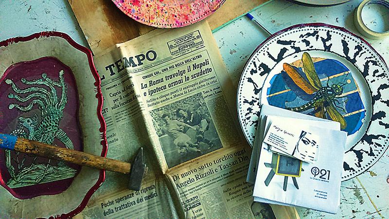 Foto di Marzia Spinetti Arte in corso: quando il Sig.Vedova stava prendendo forma...