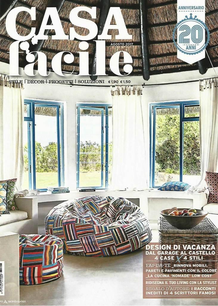 Casa facile nel numero di Agosto 2018 parala della panca in legno di recupero e vecchie sedie vintage de Laquercia21