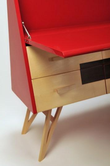 Pinocchio lo scrittorio rosso ferrari in legno massello Laquercia21