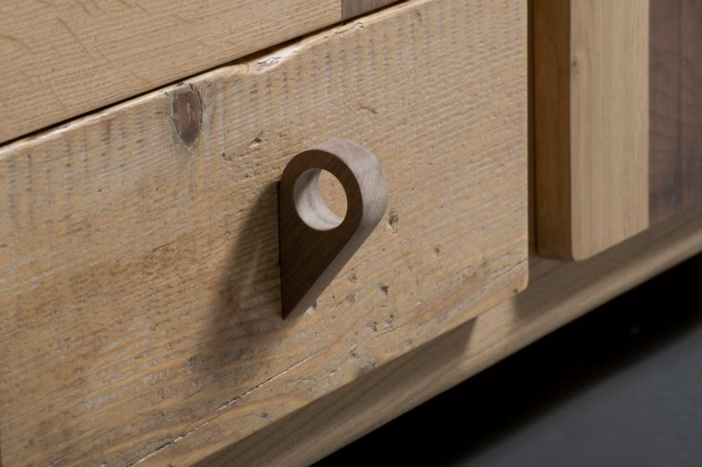 Madia in legno progetto fatto a mano su misura rovere acero noce canaletto