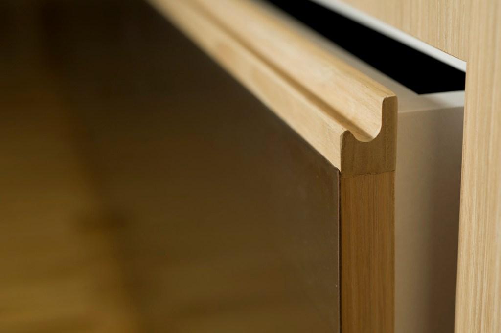 Cassettone armadio ferro e legno rovere
