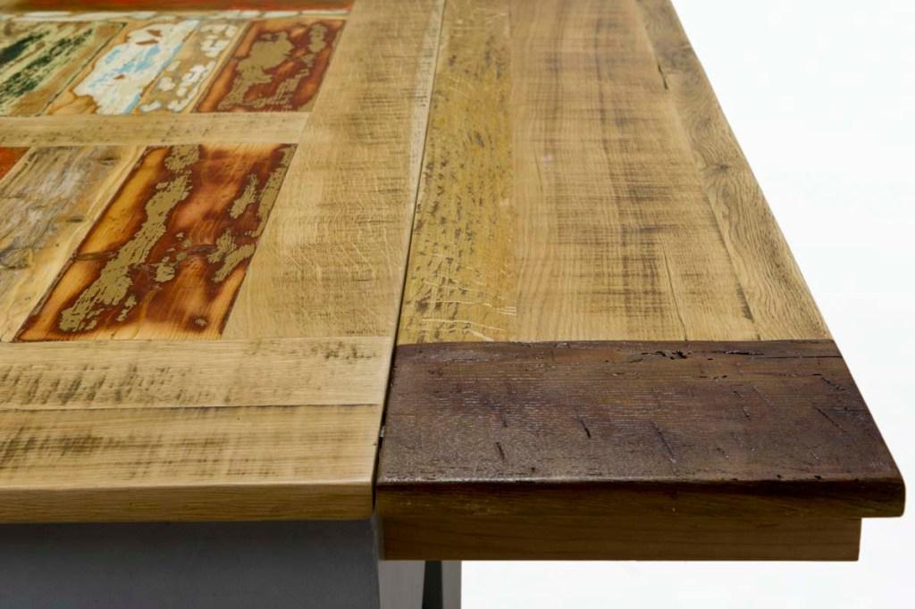 piano tavolo allungabile in rovere vintage