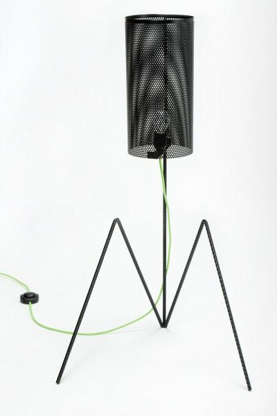 lampada design contemporaneo ferro nero